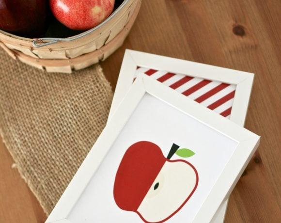 Mod Apple Prints & 12 Free Fall Printables