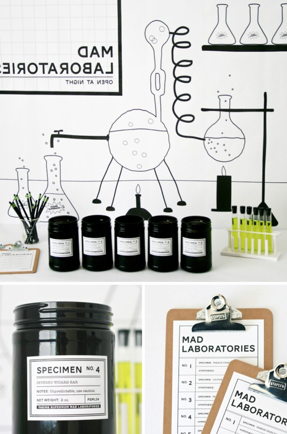 Mad Laboratory Halloween Party Game with Free Printables at PagingSupermom.com
