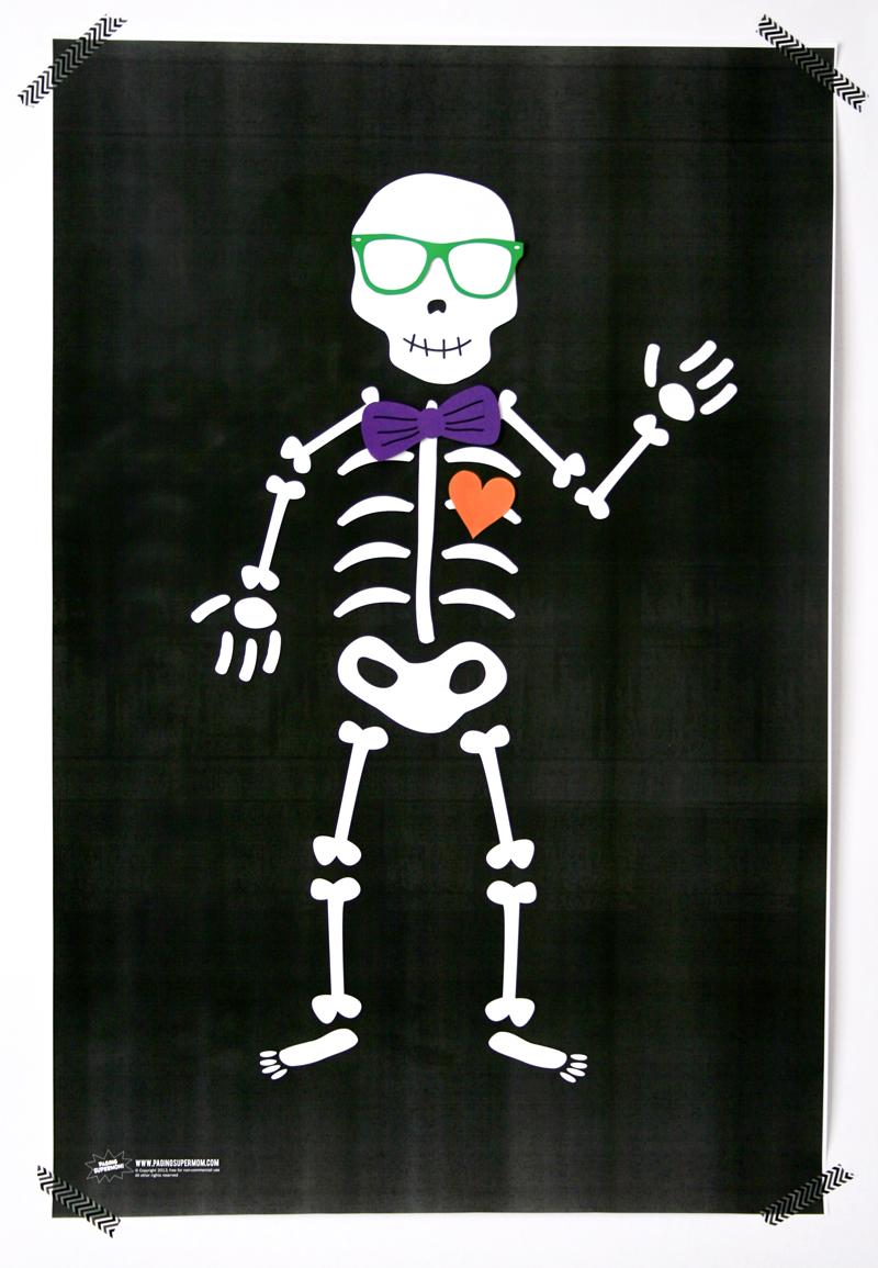 Free Printable Skeleton Poster