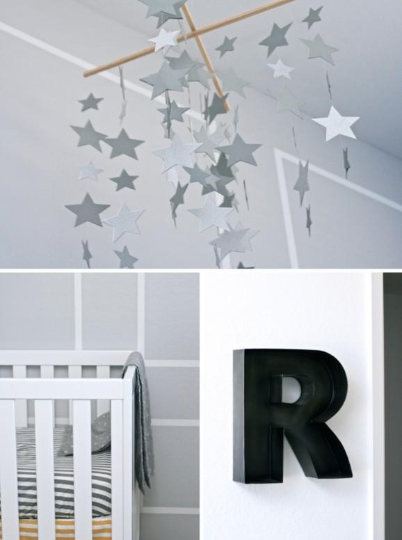 Star Gazing Themed Baby Boy Nursery at PagingSupermom.com