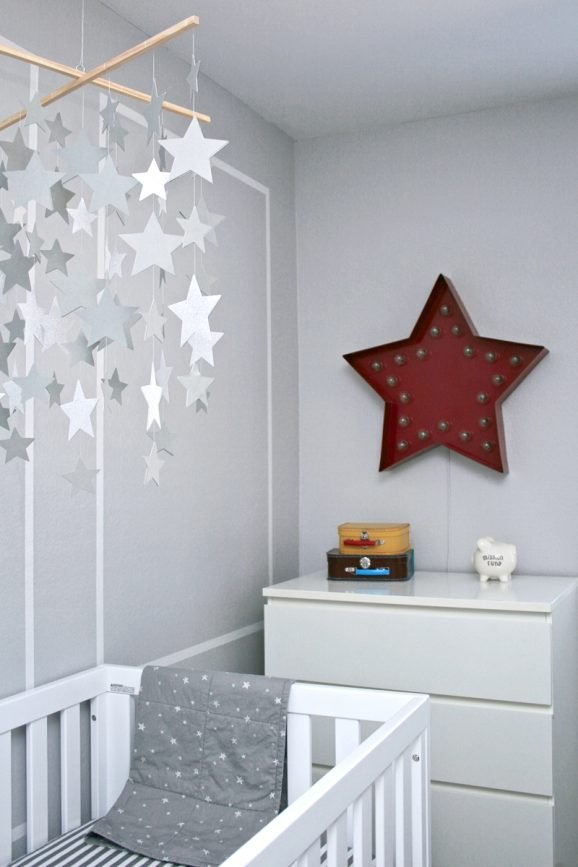 Star Gazing Themed Baby Boy Nursery at PagingSupermom.com