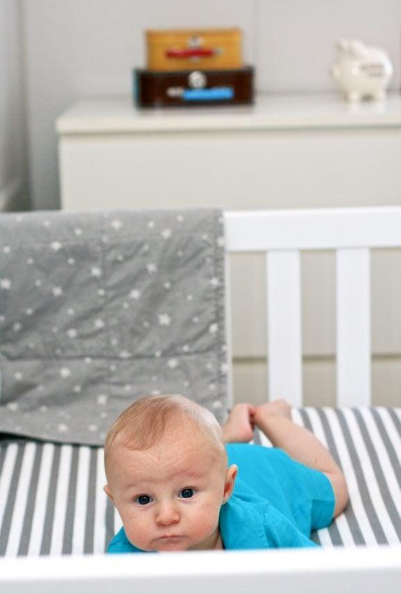 Star & Space Themed Baby Boy Nursery at PagingSupermom.com
