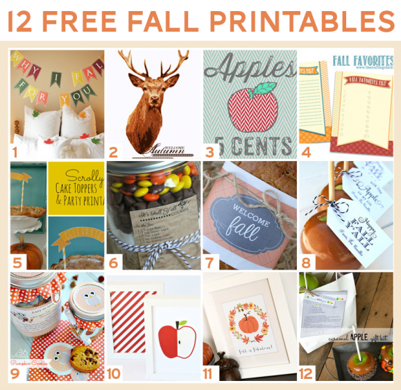 12 Free Printables for Fall at PagingSupermom.com