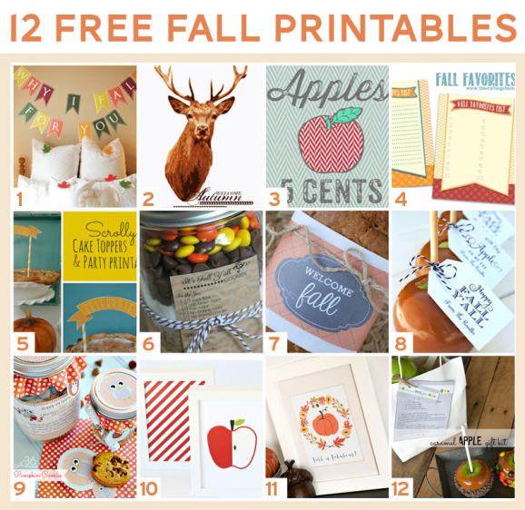 12 Free Printables for Fall at PagingSupermom.com