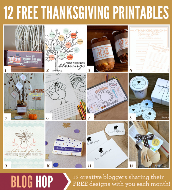 12 Free Thanksgiving Printables!