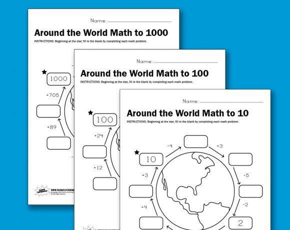 Worksheet Wednesday: Around the World Math