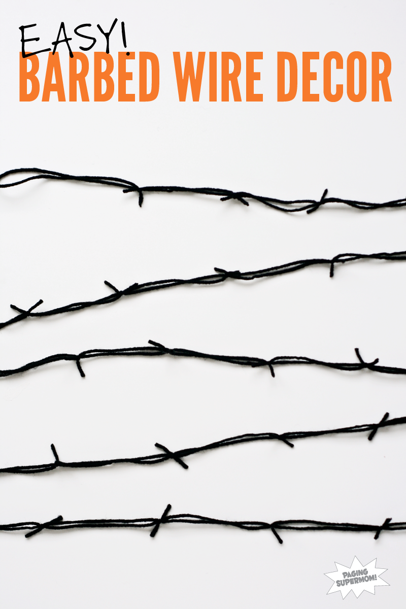 DIY Barbed Wire Decor - Paging Supermom