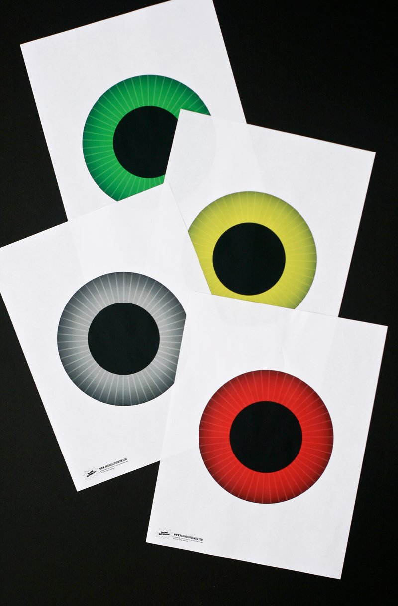 Printable Eyeball Irises