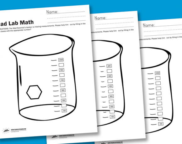 Worksheet Wednesday: Mad Lab Math