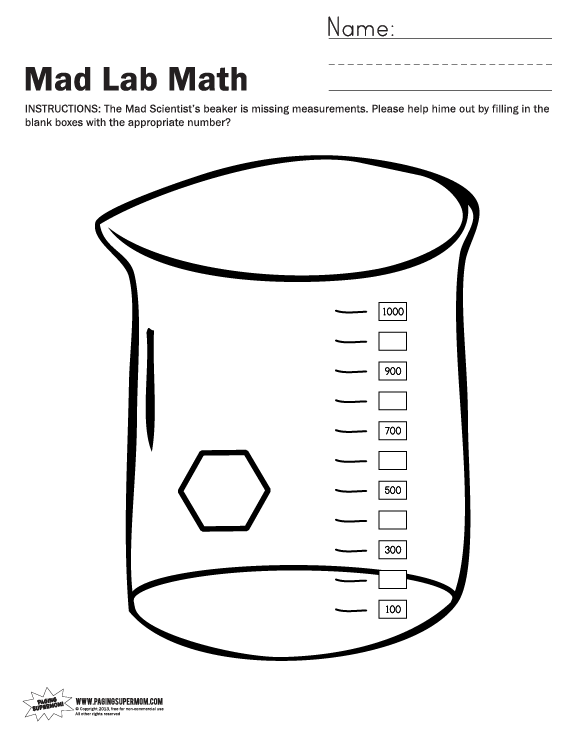 Mad Lab Halloween Math Worksheets - Paging Supermom