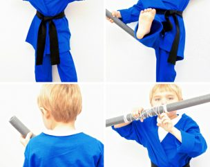 No-Sew Kids Ninja Costume