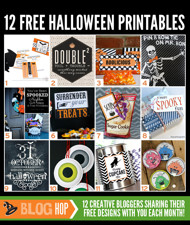 12 Free Halloween Printables at PagingSupermom.com