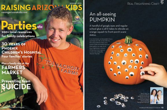 All-Seeing Pumpkin is easy for kids to make! Just glue on googly eyes. Great kid-friendly Jack-O-Lantern ideas at PagingSupermom.com