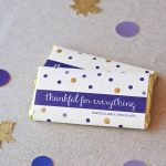 Thankful for Chocolate Free Printable candy bar wrapper for Thanksgiving at PagingSupermom.com