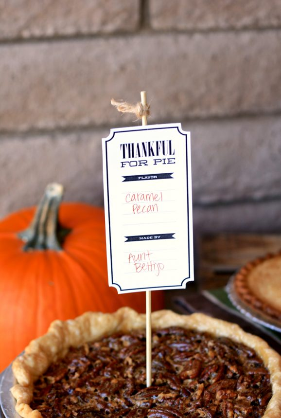 Free Printable Pie Tags for #thanksgiving at PagingSupermom.com