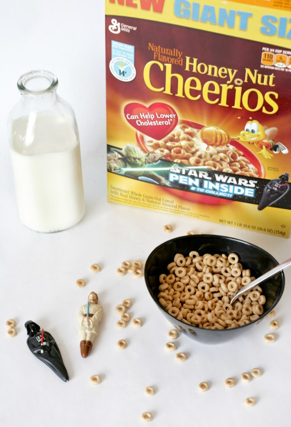 Through December get Star Wars Cereal Pens in specially marked boxes of Big G Cereals like our family favorite Honey Nut Cheerios #cerealwars http://r.linqia.cc/3200230