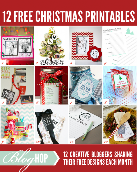 12 Free Christmas Printables at PagingSupermom.com