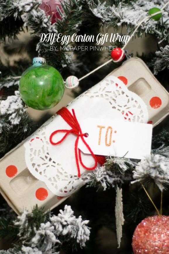 Adorable Egg Carton Gift Wrap #thepartyhop