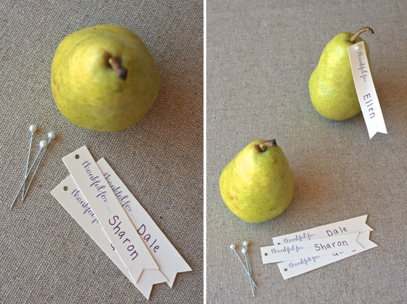 Pear-Placecards