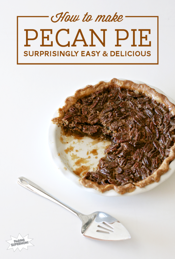 How to Make Easy Pecan Pie Recipe at PagingSupermom.com