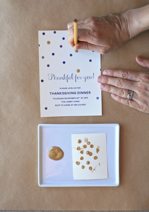 How to do a Faux Gold-Leafed Invitation