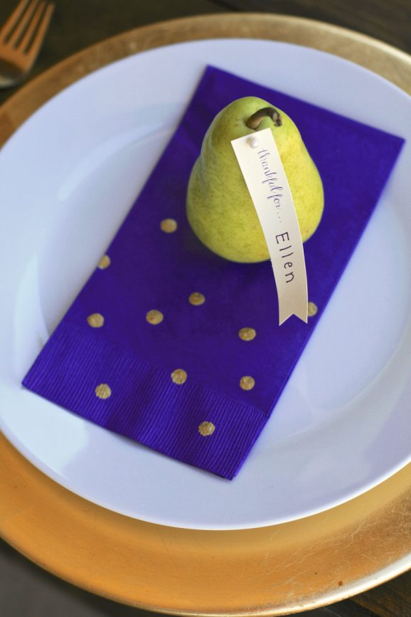 Adorable Pear Placecards