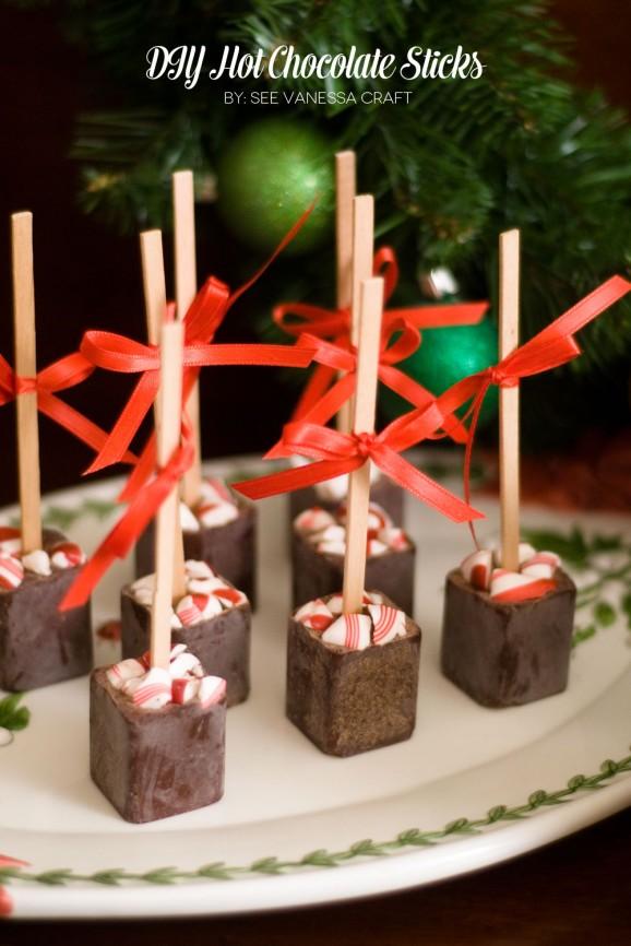 DIY Hot Chocolate Sticks #thepartyhop