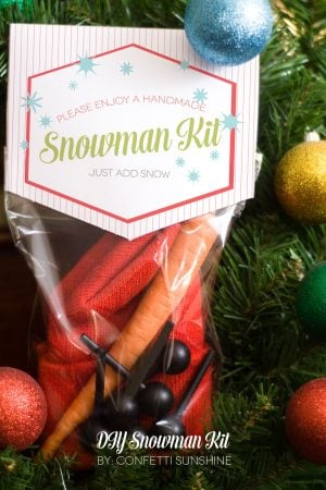 Adorable Snowman Kit Neighbor Gift Idea #thepartyhop