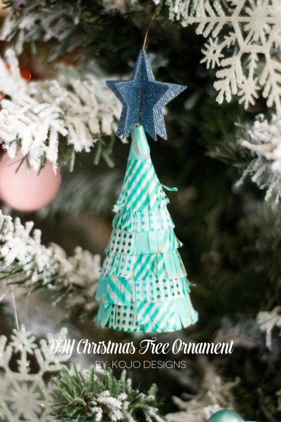 Washi Tape Tree Ornament #thepartyhop