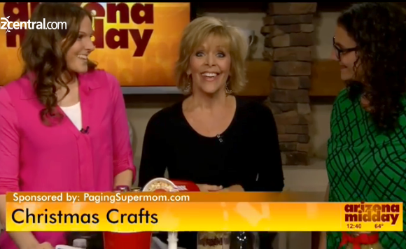 Aimee & Bettijo of PagingSupermom.com sharing easy gift ideas with Arizona Midday Host