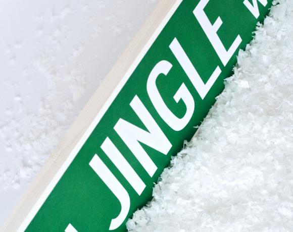 Free Printable Jingle Way Street Sign