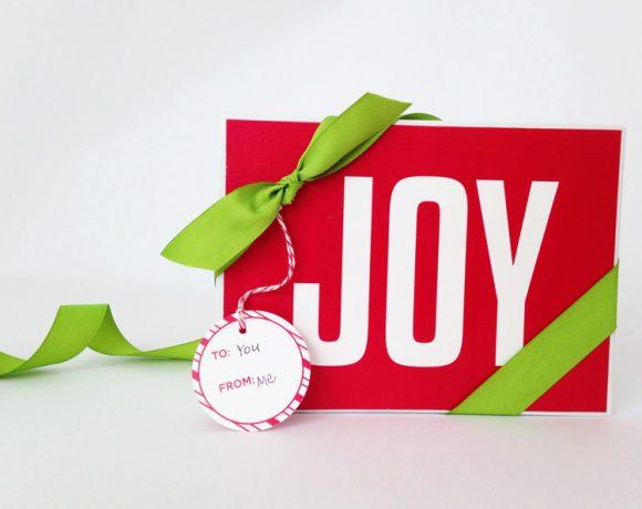 Printable Joy Sign