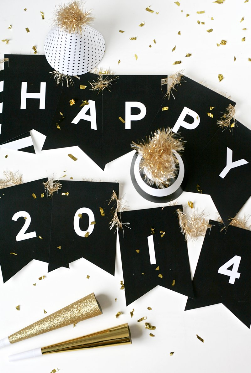 Free Printable New Years Banner