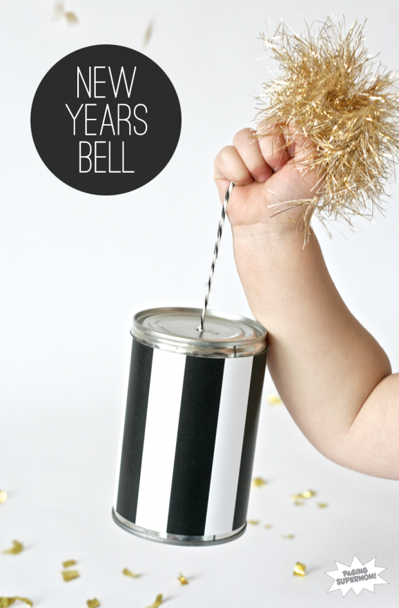 How to make a New Year's Noisemaker Bell at PagingSupermom.com #kidscraft