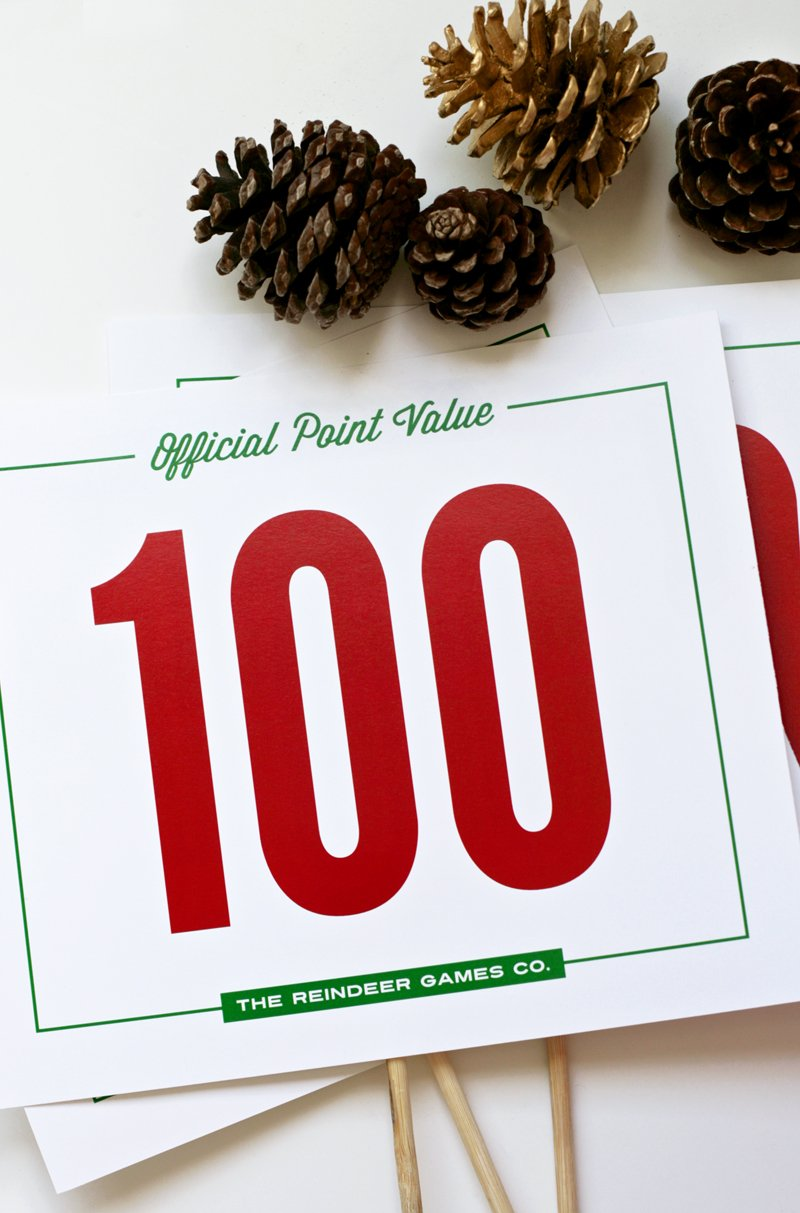 Tossing Game Free Printable Point Signs