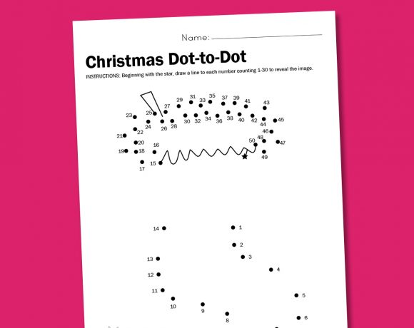 Worksheet Wednesday: Christmas Dot-to-Dot