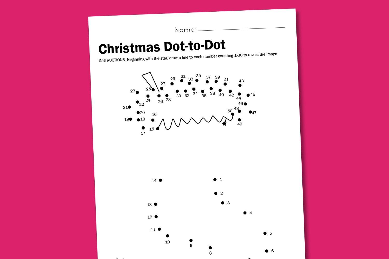 Stocking Dot2dot Worksheet Printable1