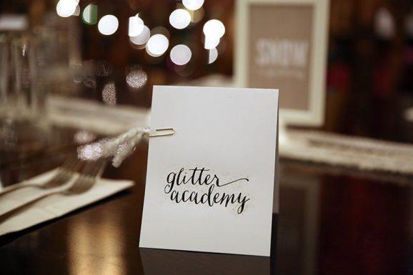 Pretty Glitter Academy White Christmas Decor & Menus by PagingSupermom.com