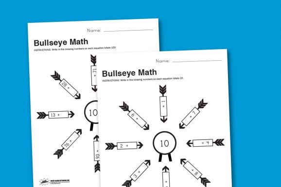 photo regarding Printable Bullseye referred to as Worksheet Wednesday: Bullseye Math - Paging Supermom