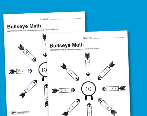 Worksheet Wednesday: Bullseye Math