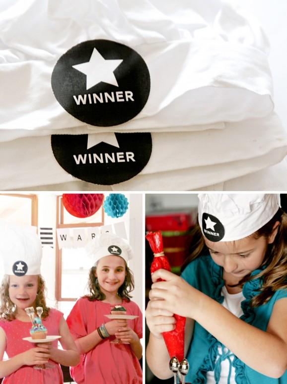 Cupcake Wars Winners Hats Free Printable