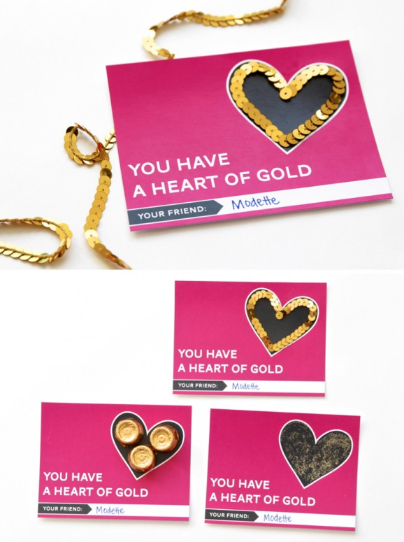 """Three ways to give a """"Heart of Gold"""" Free Printable Valentine"""