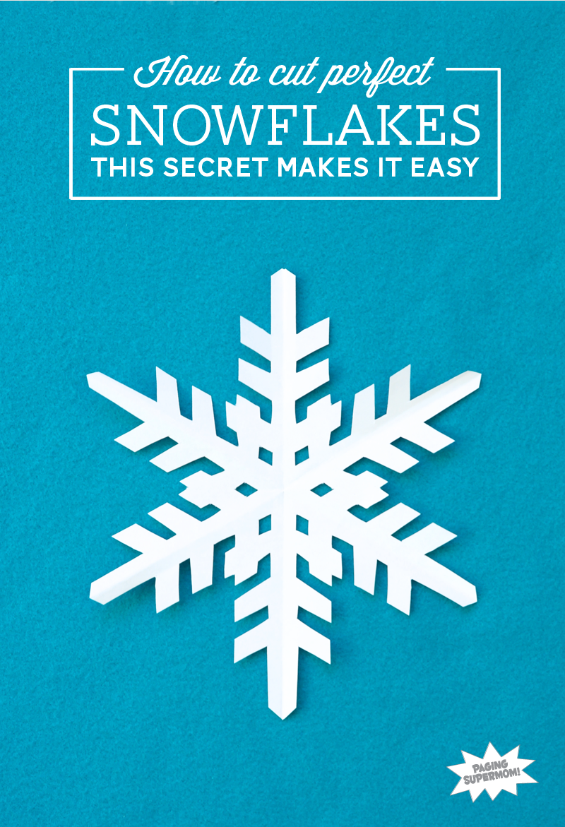 How to Cut Out a Snowflake - Paper Snowflakes Tutorial at PagingSupermom.com