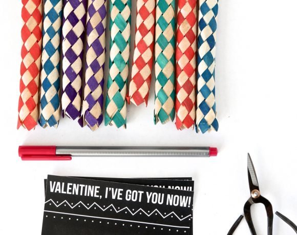 Free Printable Valentines Cards for Chinese Finger Traps at PagingSupermom.com #valentines