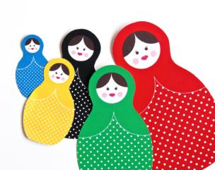 Olympics Craft Idea: Printable Russian Dolls