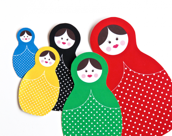 Winter Olympics Craft Idea: Russian Dolls