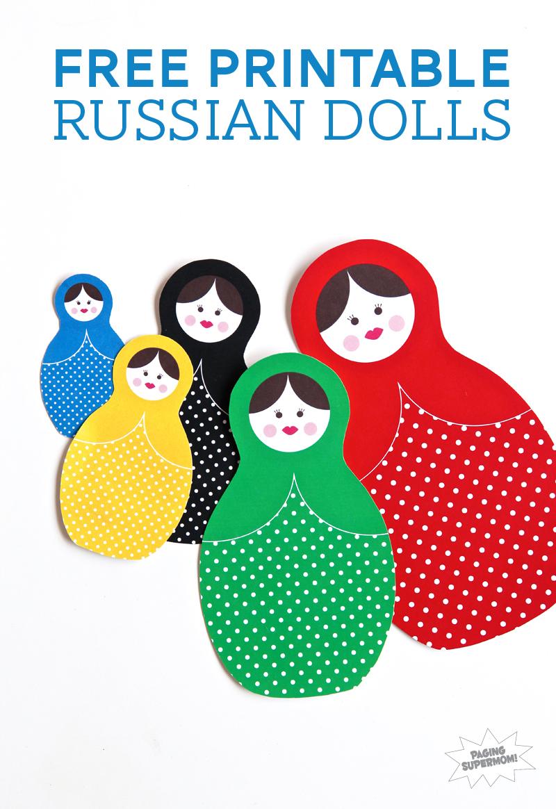 Free Printable Russian Dolls Olympics