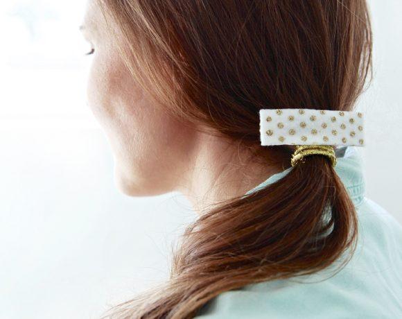 Shortcut Glitter Dot Hair Clip