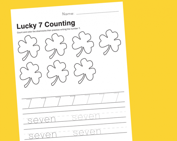 Worksheet Wednesday: Counting to Lucky 7