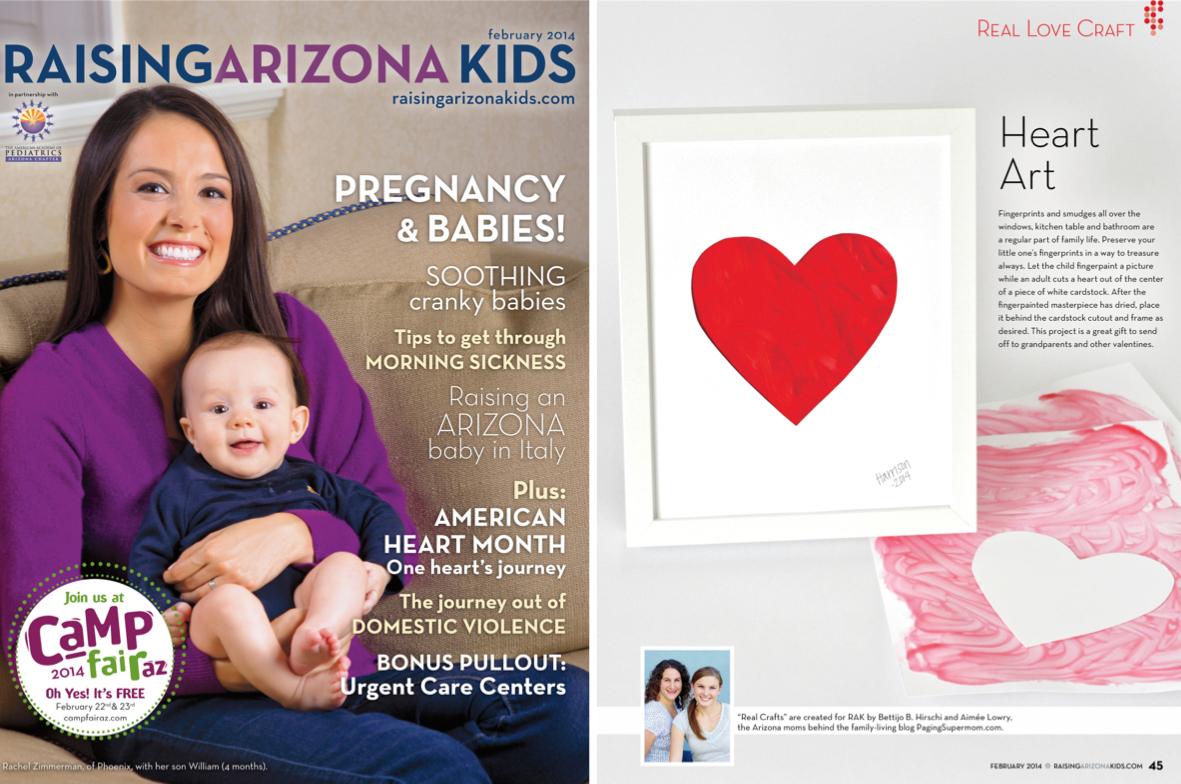 Fingerpainted Heart Preschool Valentines Craft Project for Kids